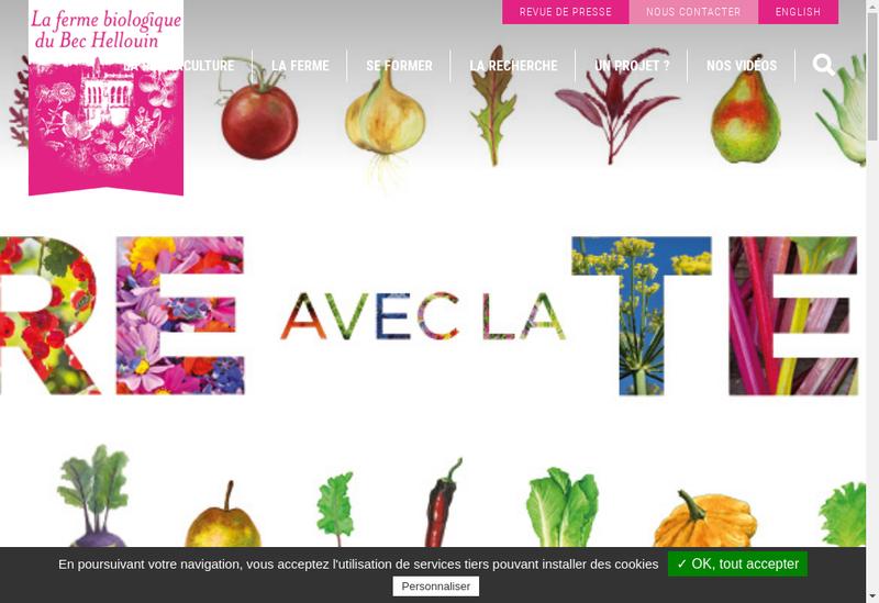 Capture d'écran du site de Ferme du Bec Hellouin