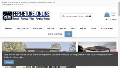 Capture d'écran du site de LRP