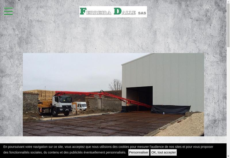 Capture d'écran du site de Ferreira Dalle