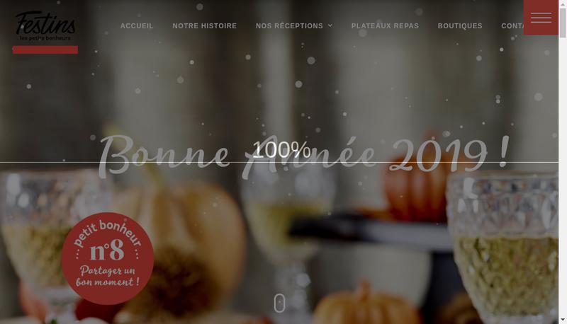 Capture d'écran du site de Festins de Bourgogne