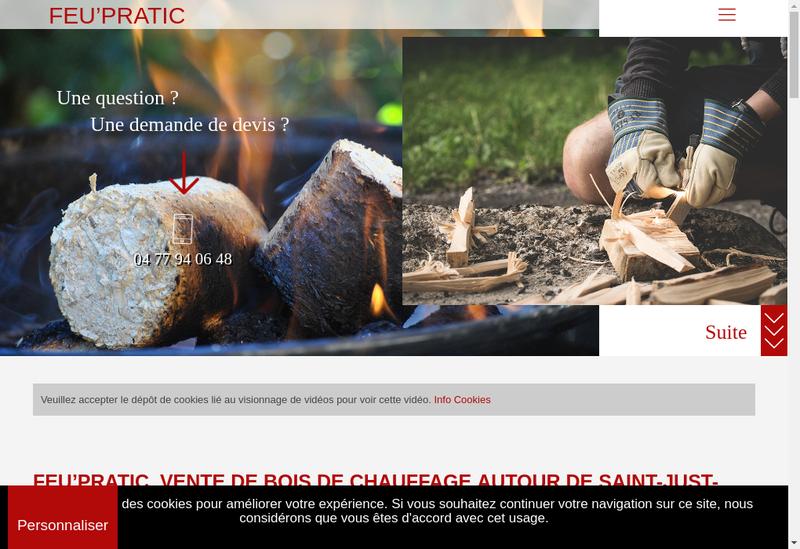 Capture d'écran du site de Feu'Pratic