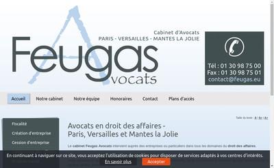 Site internet de Feugas Avocats