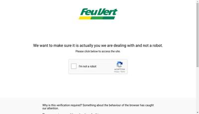 Site internet de Feu Vert