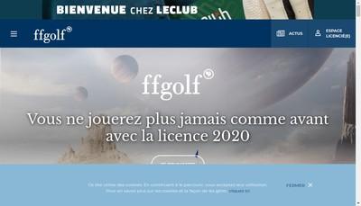 Site internet de Federation Francaise de Golf