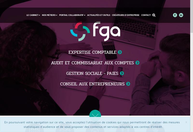 Capture d'écran du site de Fga Finance Gestion Audit