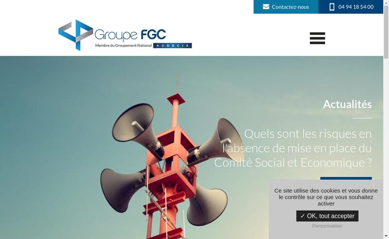 Capture d'écran du site de Groupe Fgc