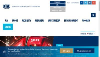 Site internet de Federation International Automobile