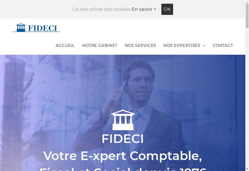 Capture d'écran du site de Fideci