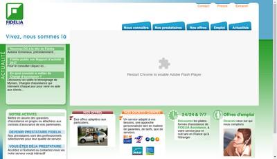 Site internet de Fidelia Assistance