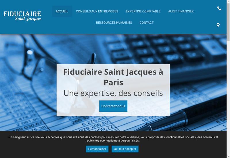 Capture d'écran du site de Fiduciaire Saint Jacques