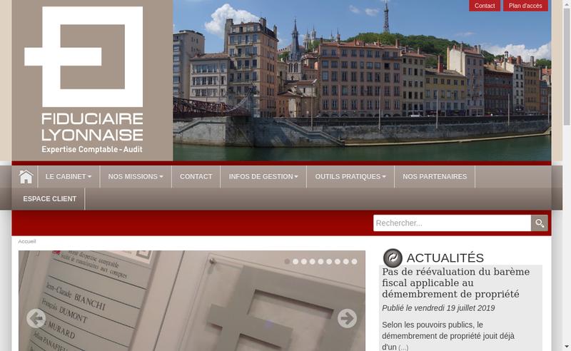 Capture d'écran du site de Fiduciaire Lyonnaise