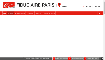 Capture d'écran du site de Cabinet d'Expertise Comptable Cattan