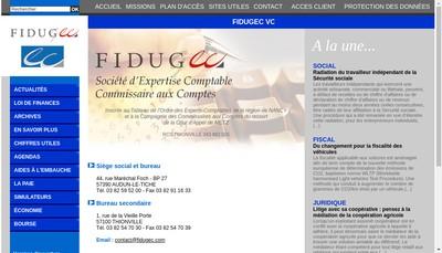 Site internet de SAS Fidugec