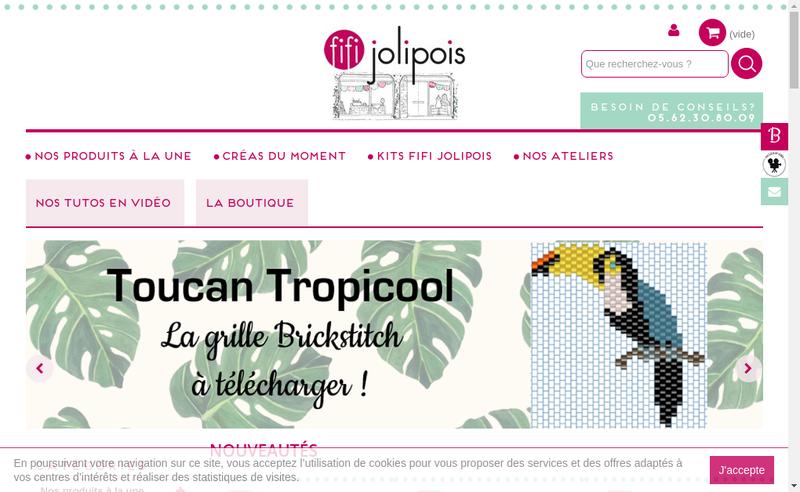 Capture d'écran du site de Fifi Jolipois