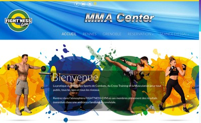 Site internet de Fightness Gym