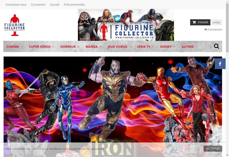 Capture d'écran du site de Figurine Collector