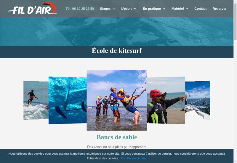 Capture d'écran du site de Fil d'Air