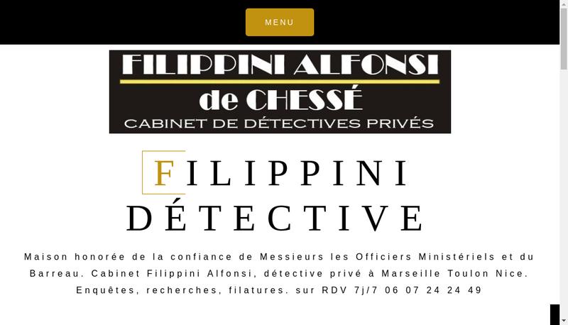 Capture d'écran du site de Cabinet Filippini Alfonsi