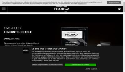 Site internet de Laboratoires Filorga Cosmetiques