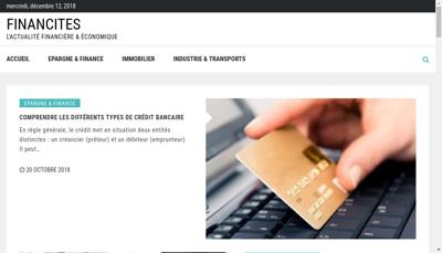 Capture d'écran du site de Financites