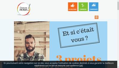 Site internet de Financons Nous!