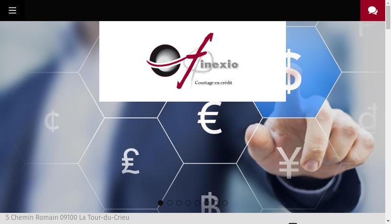 Capture d'écran du site de Finexio