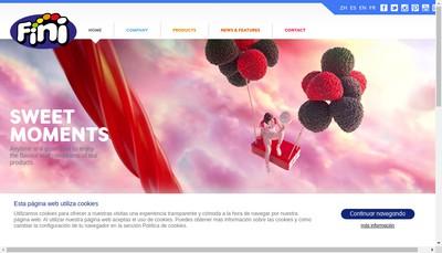 Site internet de Fini Confiserie France