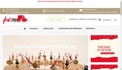 Site internet de First Fast Food Collectivite