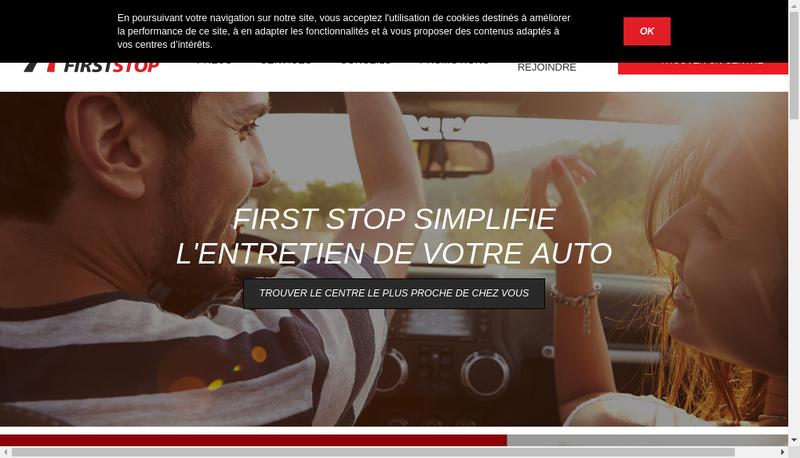 Capture d'écran du site de First