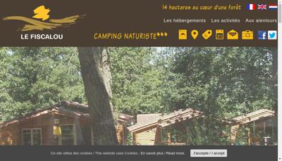 Capture d'écran du site de Camping le Fiscalou
