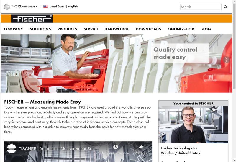 Capture d'écran du site de Fischer Instrumentation Electronique