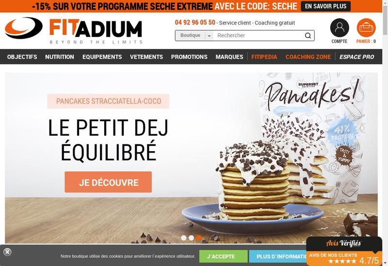 Capture d'écran du site de Fitcorp - Fitadium - Big Fitness