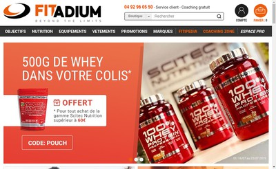 Site internet de Fitcorp - Fitadium - Big Fitness