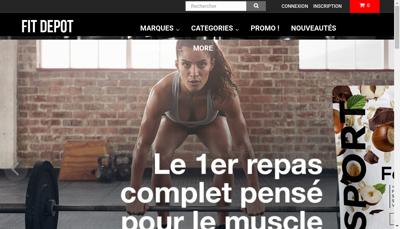 Capture d'écran du site de Fit Depot