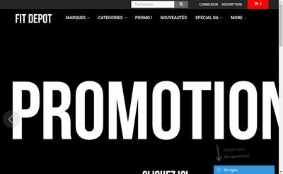Site internet de Fit Depot