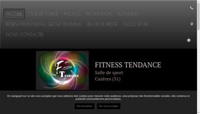 Capture d'écran du site de Fitness Tendance 31