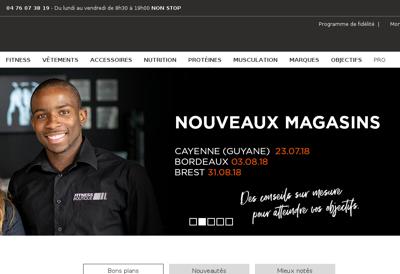 Capture d'écran du site de Fitnessboutique Partners