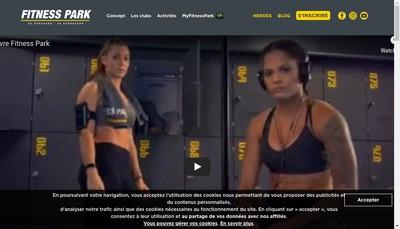 Site internet de Fitness Park Paris
