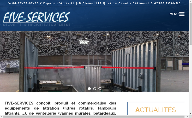 Capture d'écran du site de Five Services