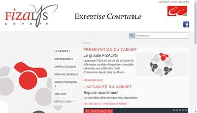 Site internet de Fizalys Audit
