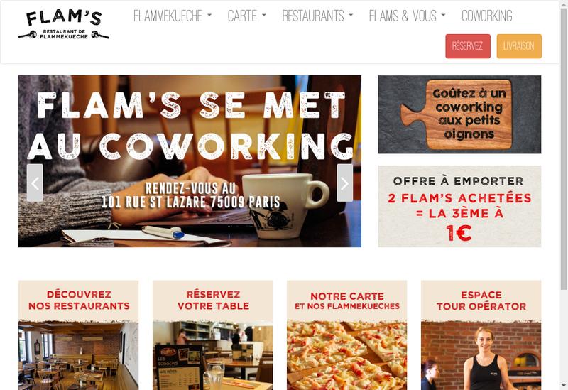 Capture d'écran du site de Flam S Paris