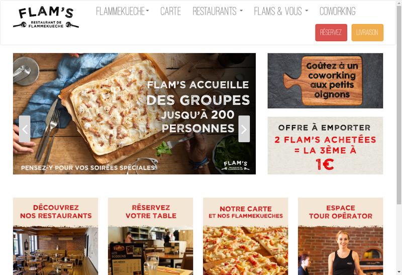 Capture d'écran du site de Flam'S Paris