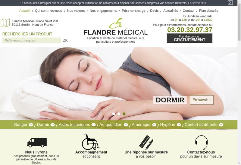 Capture d'écran du site de Flandre Medical