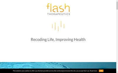 Site internet de Flash Therapeutics