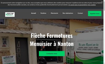 Site internet de Sarl Fleche Fermetures