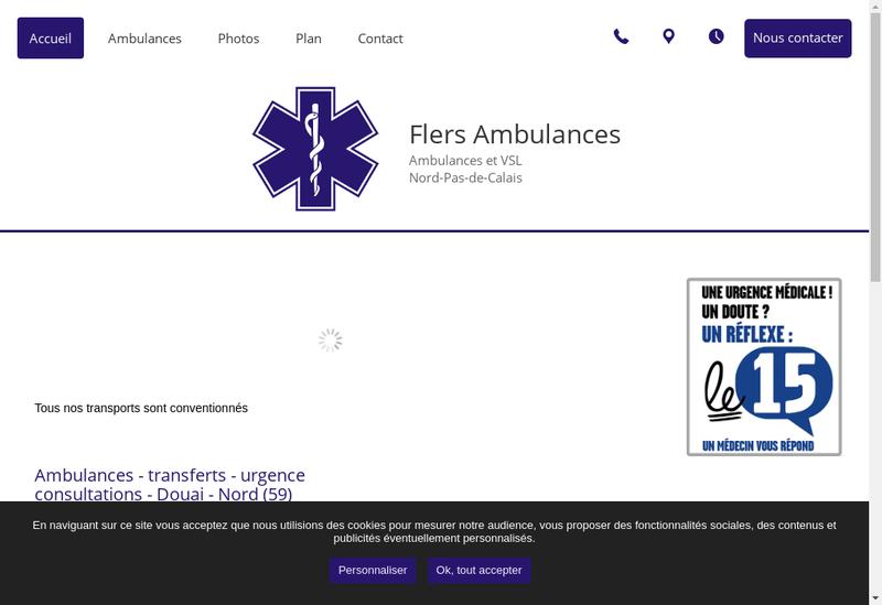 Capture d'écran du site de Flers Ambulances