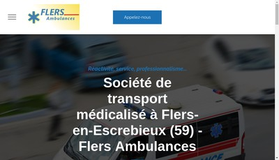 Site internet de Flers Ambulances