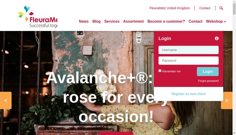 Capture d'écran du site de Fleurametz