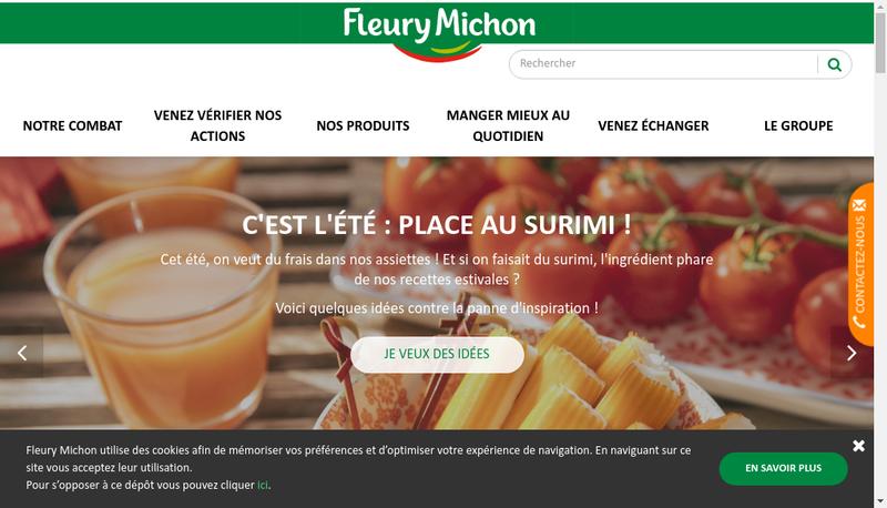 Capture d'écran du site de Solution-Repas - Solutionre