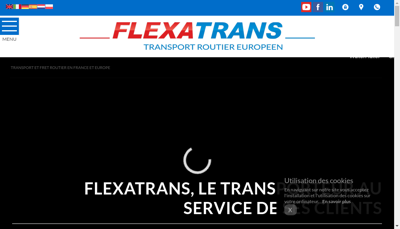 Capture d'écran du site de Flexatrans